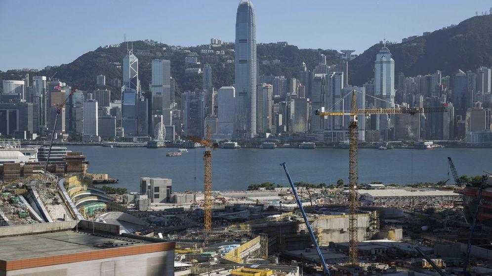 Foto: Construcción de la nueva estación de trenes balas en Hong Kong. (EFE)
