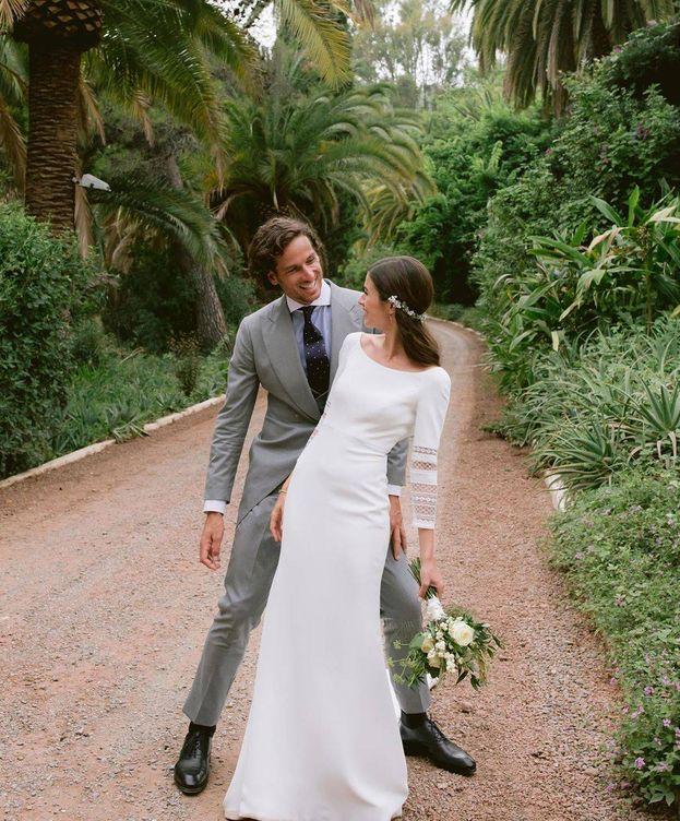 Foto:  Los recién casados, en una imagen de sus redes sociales.