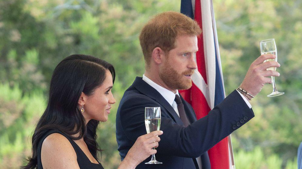 Foto: Los duques de Sussex durante su visita a Irlanda.(Getty)
