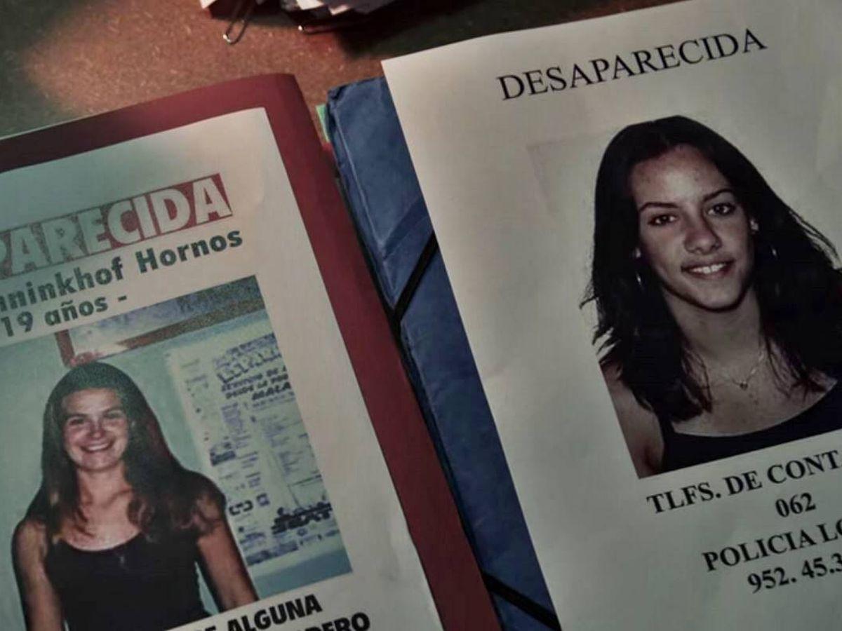 Foto: Carteles de las desapariciones de Rocío y Sonia. (Netflix)