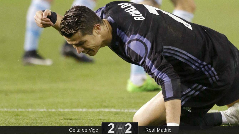 Foto: Cristiano se lamenta durante el partido del Real Madrid en Balaídos. (EFE)