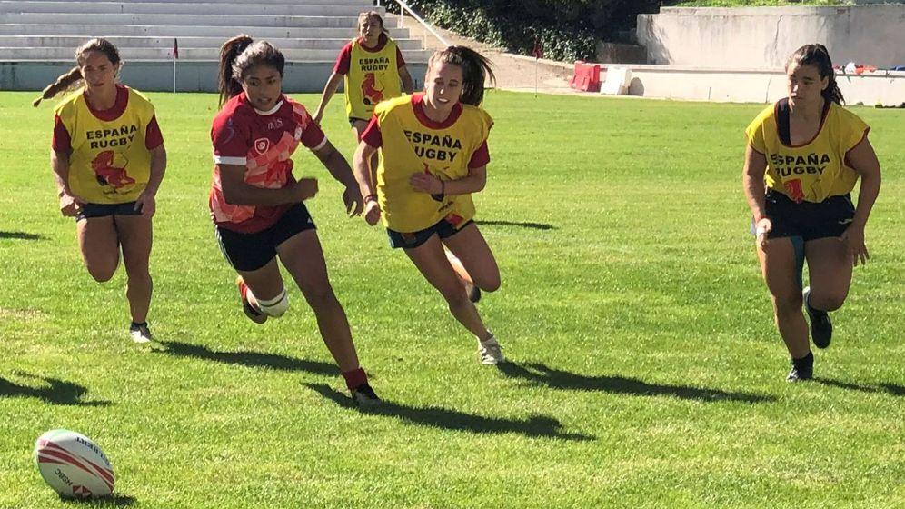 Foto: Entrenamiento de la selección española femenina de rugby. Foto: EFE Juan Jose Rodríguez Ortega