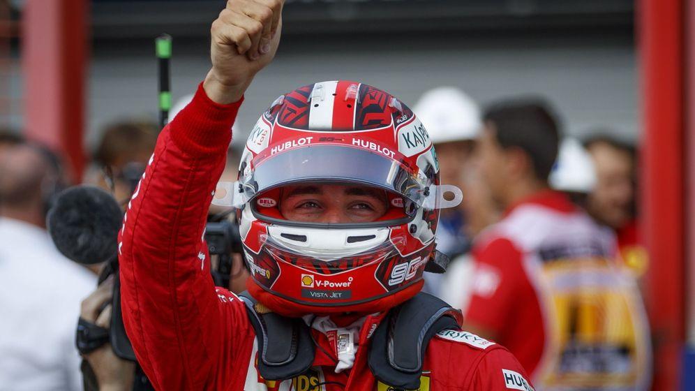 Foto: Leclerc dio una exhibición este sábado en Spa. (EFE)
