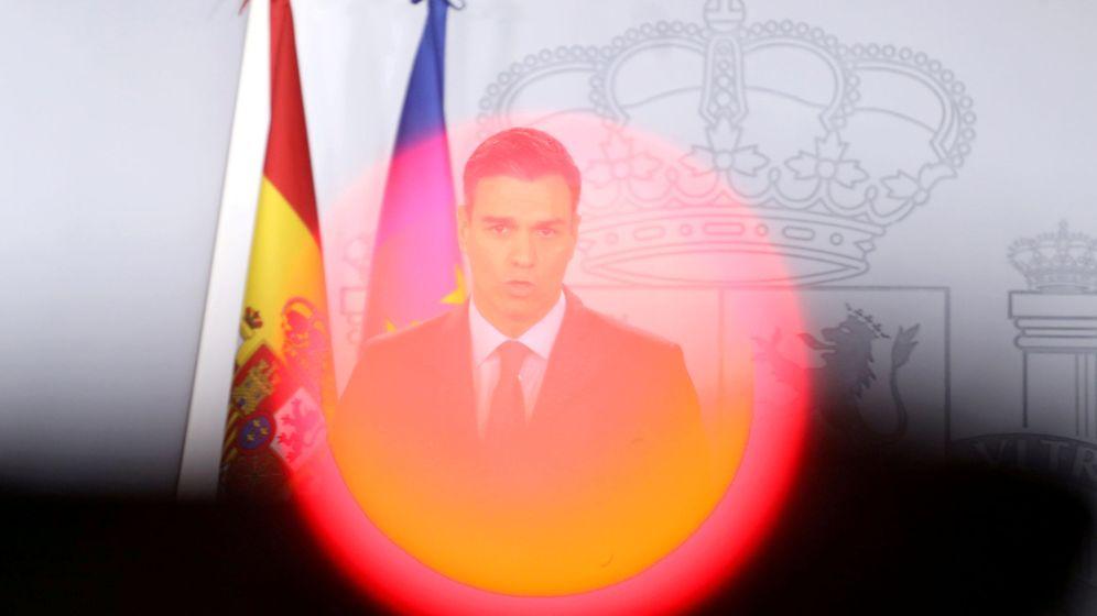 Foto: El presidente del Gobierno, Pedro Sánchez, durante su discurso de cierre de año. (Reuters)