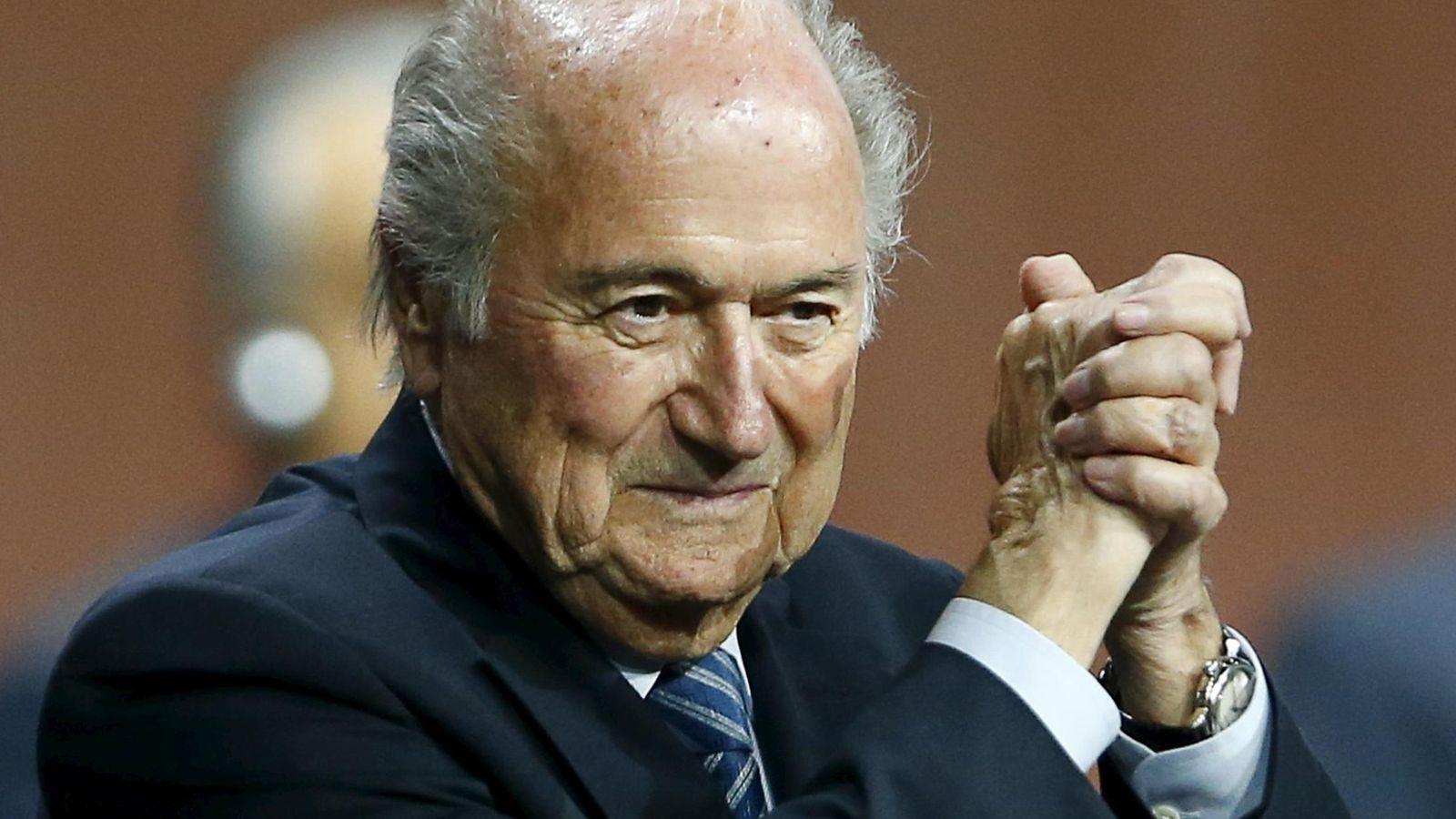Foto: Blatter, en el momento de ser reelegido presidente de la FIFA (Reuters).