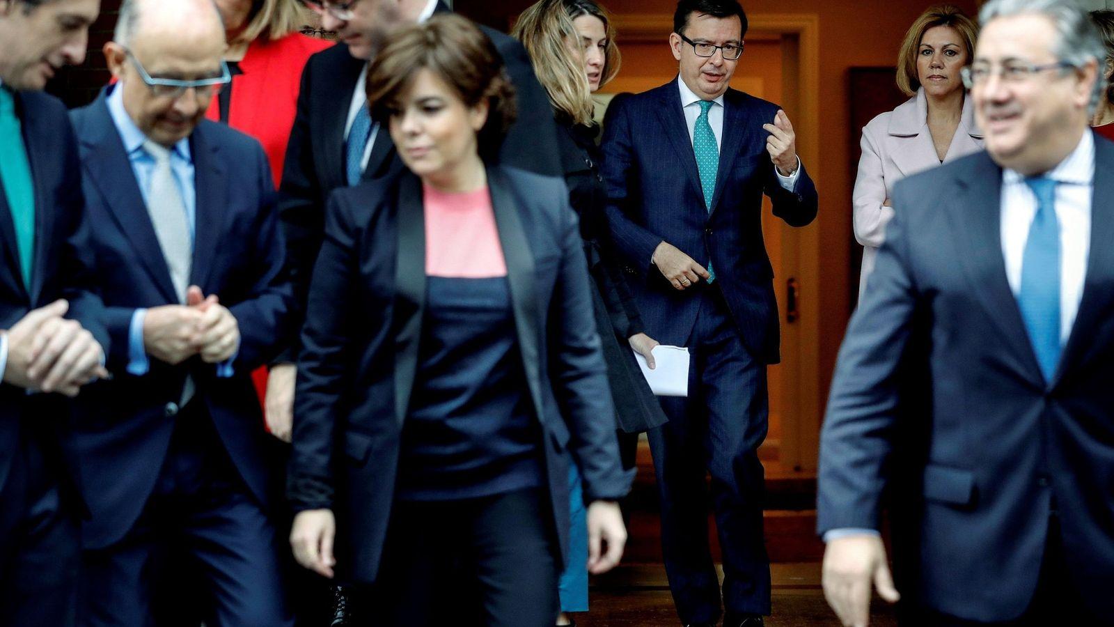 Foto: El equipo de ministros de Mariano Rajoy. (EFE)