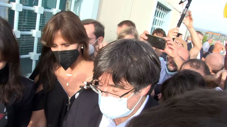 Puigdemont, al ser liberado tras la detención de anoche en Alguer. (Reuters)