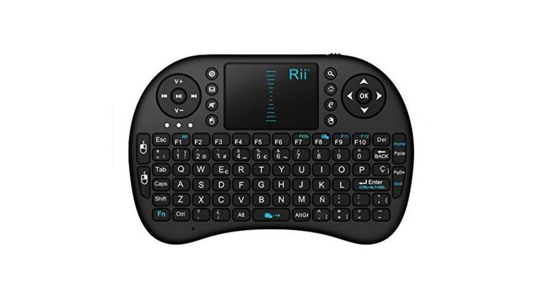 Teclado inalámbrico con touchpad Rii mini i8