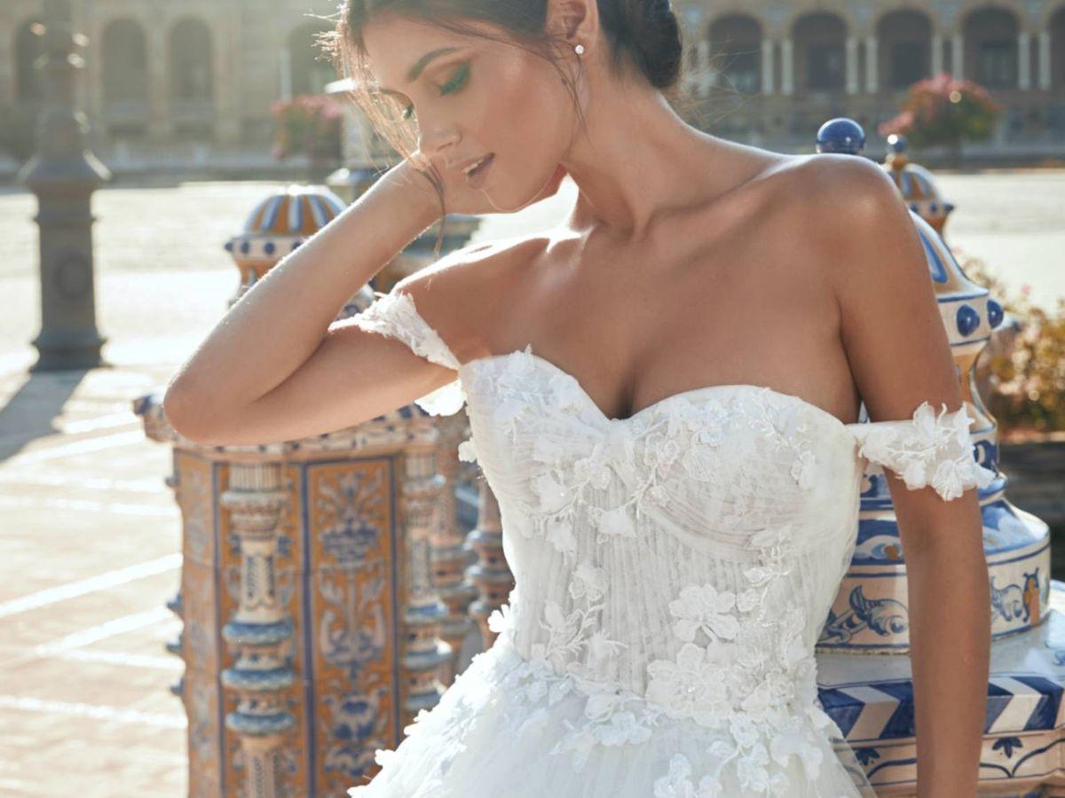 Foto: Vestidos de la nueva colección de Marchesa for Pronovias. (Cortesía)