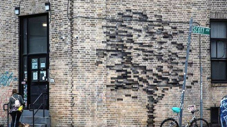 La ilusión óptica que ha aparecido en Brooklyn es de un artista español