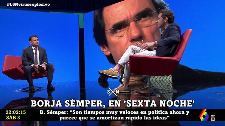 Borja Sémper se arrepiente en 'La Sexta noche' por esto que dijo sobre Aznar