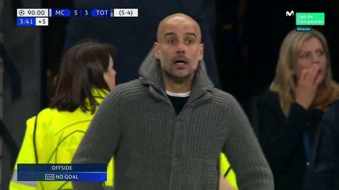 Las carreras en falso de Guardiola para celebrar un (no) gol histórico