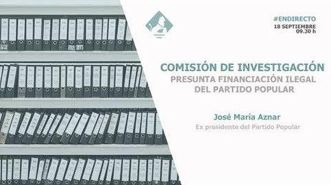 Aznar en la Comisión de Investigación al PP en el Congreso