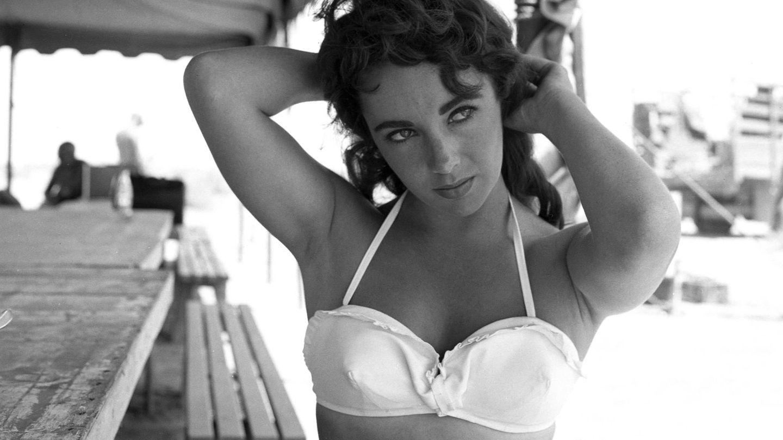 Elizabeth Taylor durante el verano de 1955, cuando rodaba 'Gigante'. (CP)