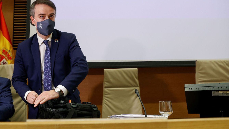 Foto: Iván Redondo, el pasado mayo, en una de sus últimas intervenciones en el Congreso antes de dejar el Gobierno. (EFE)