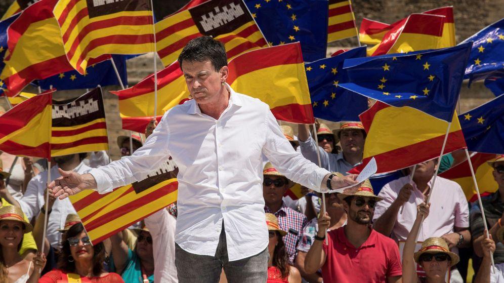 Foto: El exprimer ministro francés Manuel Valls, en un acto de Ciudadanos. (EFE)