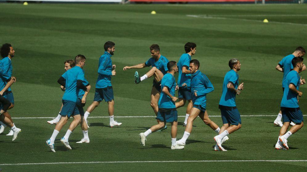 Foto: Entrenamiento Real Madrid previo a la final | EFE