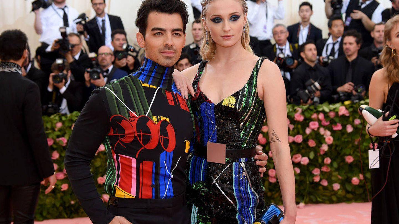 Joe Jonas y Sophie Turner. (Getty)