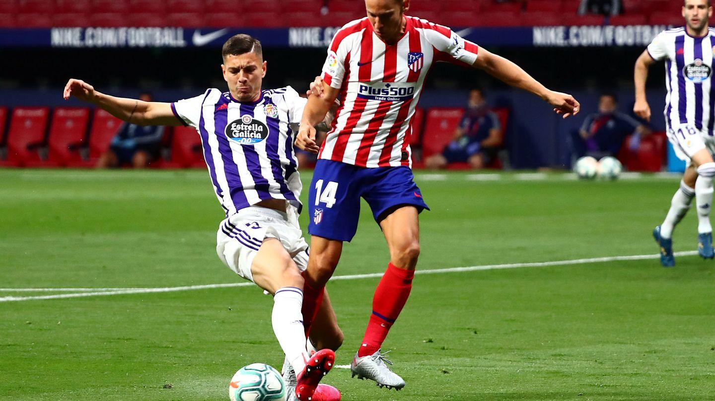 Marcos Llorente fue el elegido por Simeone como delantero en la fase final de la temporada. (Reuters)