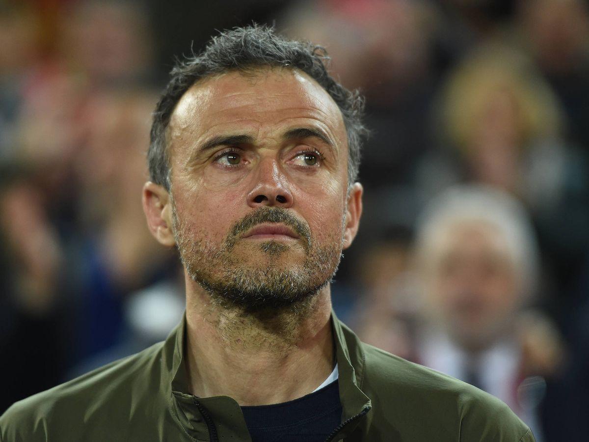 Foto: Luis Enrique, durante un partido con la selección española. (Getty)