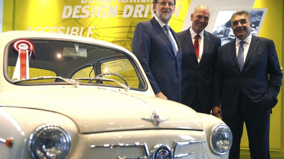 Foto: Mariano Rajoy, durante su última visita a la factoría de Seat en Martorell. (EFE)