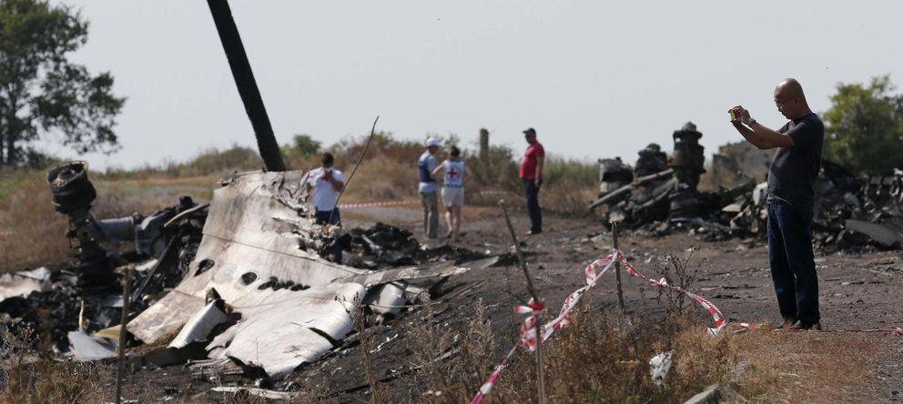 Foto: Restos del avión MH17. (Reuters)