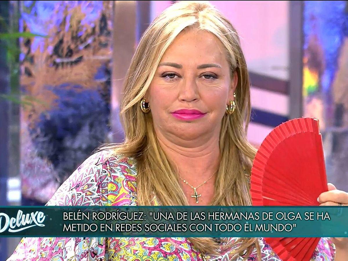 Foto: Belén Esteban, en 'Deluxe'. (Mediaset)