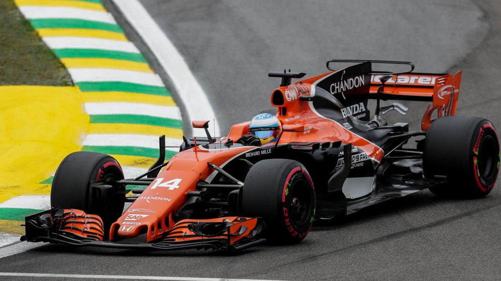 Foto: Fernando Alonso saldrá sexto este domingo en Interlagos. (EFE)
