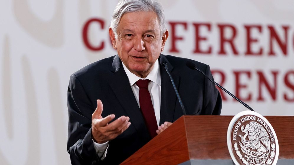 Foto: López Obrador, en una rueda de prensa este lunes. (EFE)