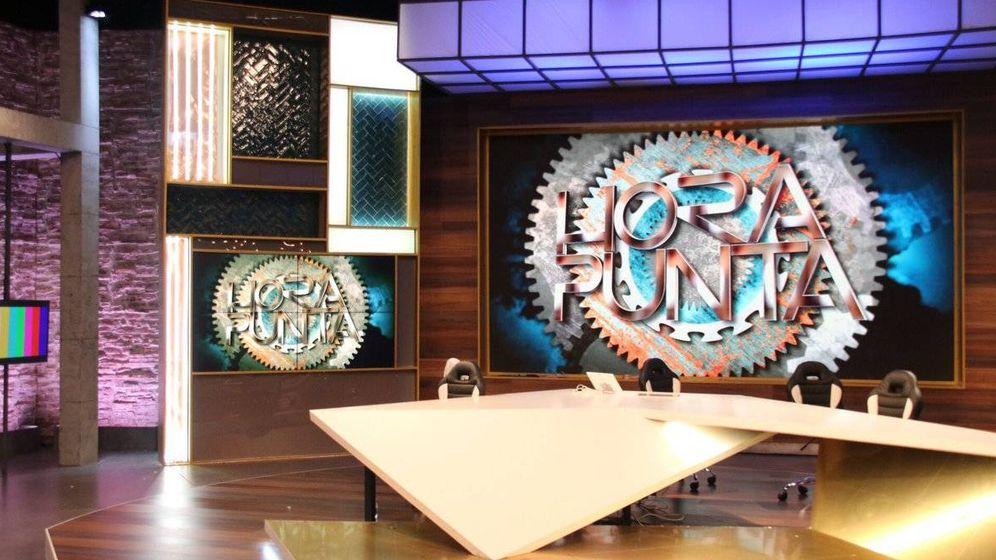 Foto: Plató del programa 'Hora punta'.