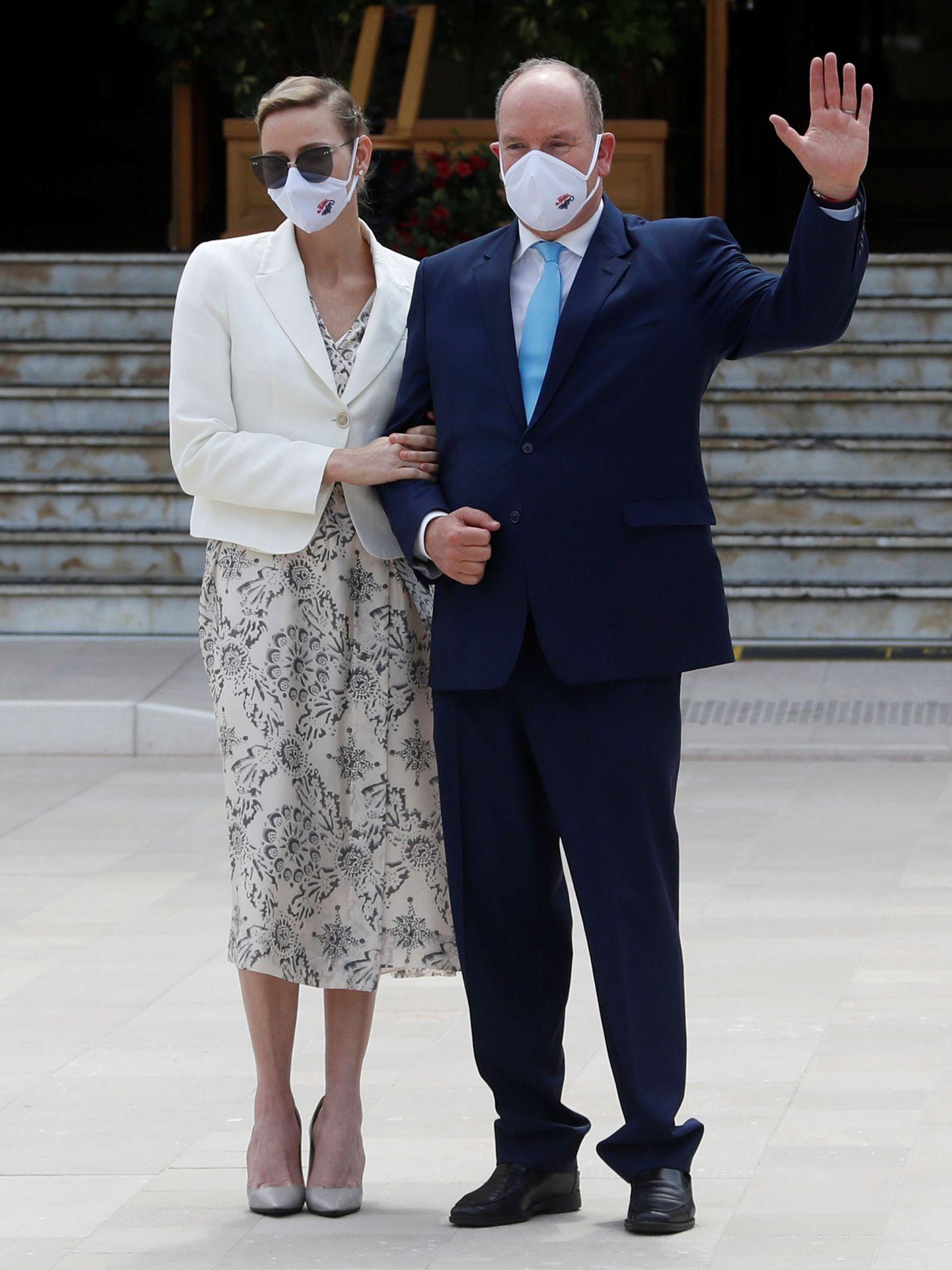 Charlène y Alberto, este junio. (Reuters)