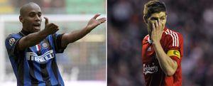 Foto: Maicon y Gerrard: un precio excesivo para dos jugadores que no son galácticos