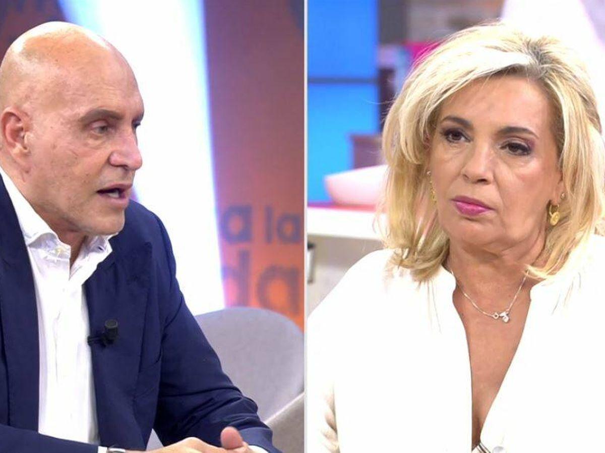 Foto: Kiko Matamoros y Carmen Borrego, en 'Viva la vida'. (Mediaset España)