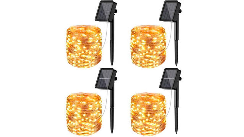 Luces LED Litogo 4 paquetes solares para exteriores