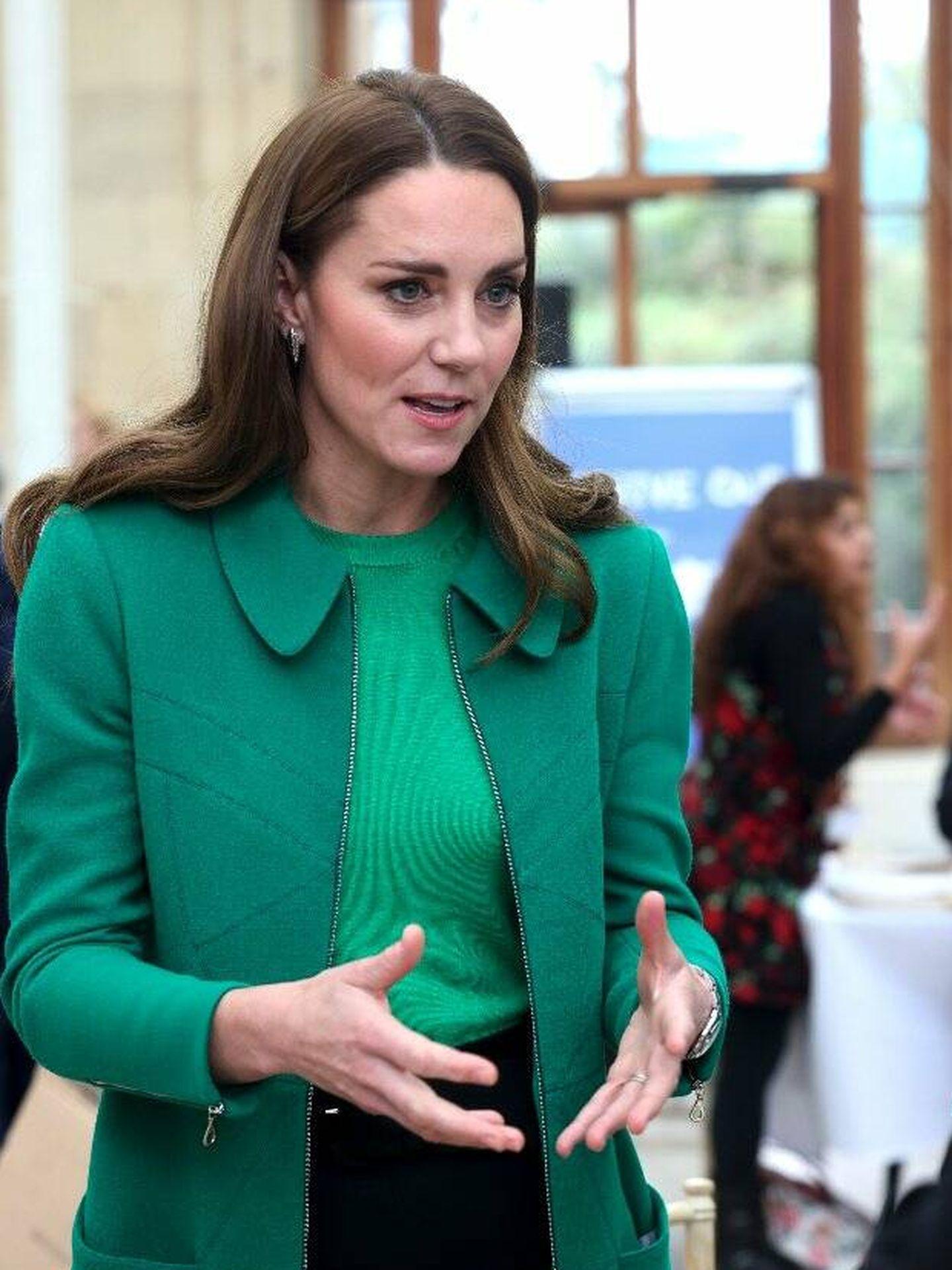 Kate Middleton, en su última aparición pública. (AP)