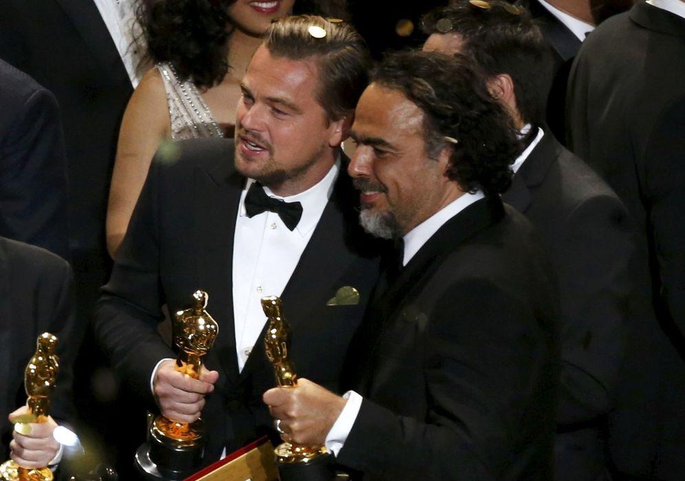 Foto: Leonardo Dicaprio y Alejandro Iñárritu han sido los dos grandes triunfadores de la noche de los Oscar