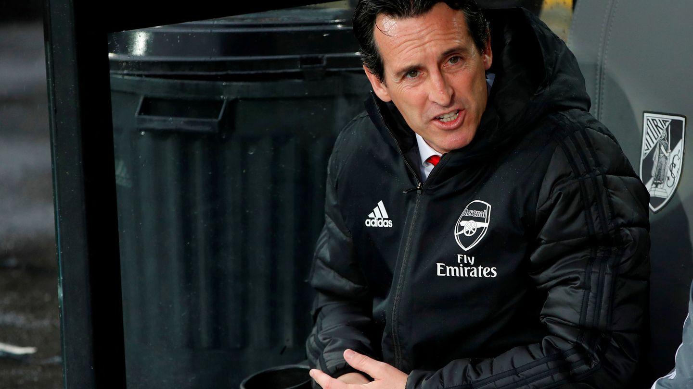 Unai Emery durante un partido con el Arsenal. (Efe)
