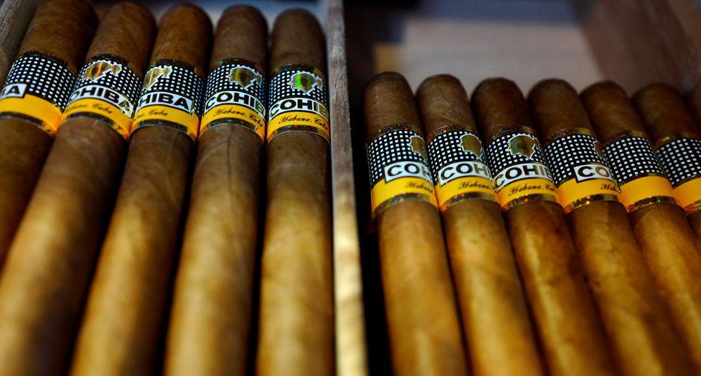 Foto: Varias cajas de puros de la marca Cohiba. (Reuters)