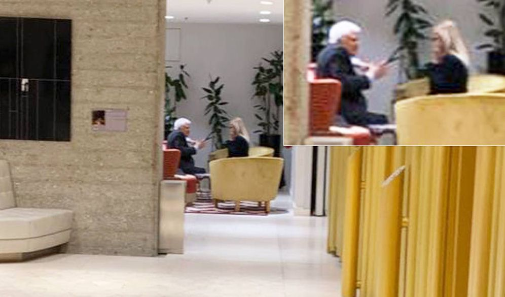 Foto: Paolo Vasile y Cristina Cifuentes, en el Hotel Eurobuilding de Madrid. (EC)