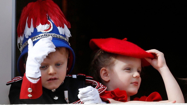 Jacques y Gabriella, en el Día Nacional de Mónaco. (Reuters)