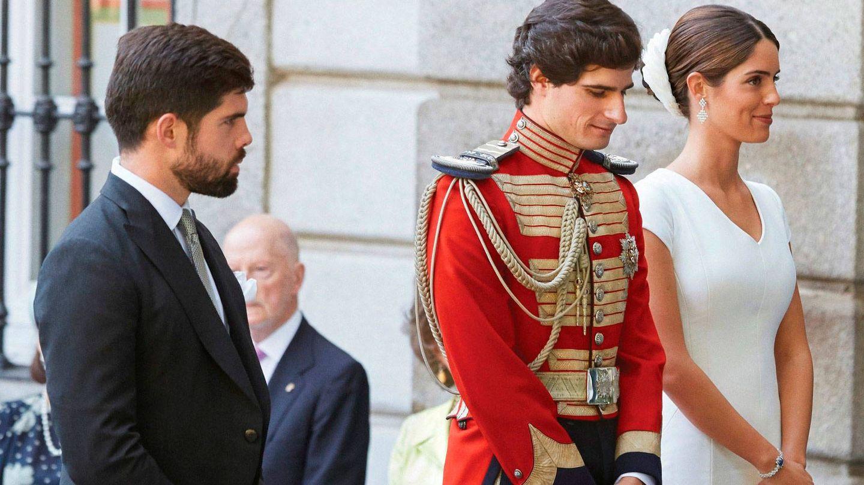 Fernando Palazuelo, en la boda de su hermana Sofía con el duque de Huéscar. (EFE)