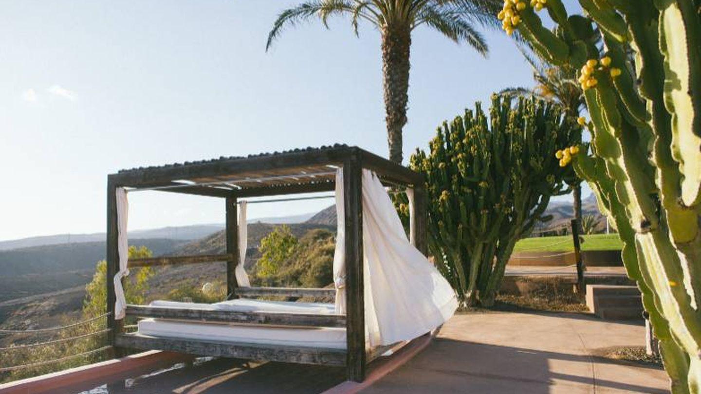 Una cama balinesa del Salobre en medio de un paraje desértico. (Foto: Cortesía)