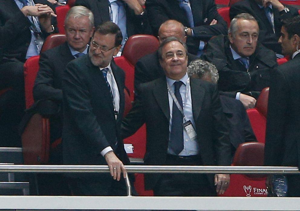 Foto: Florentino Pérez junto al Presidente del Gobierno, Mariano Rajoy.