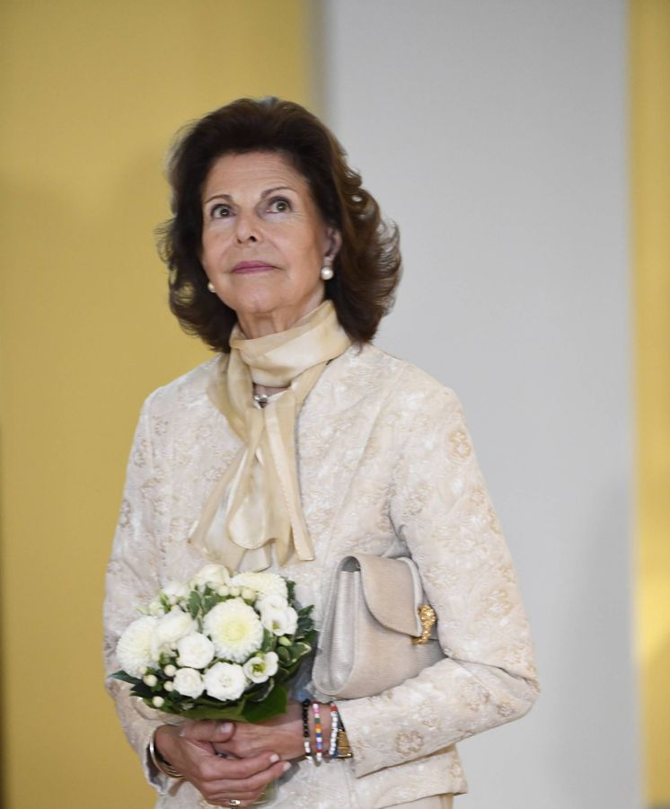 Foto:  Silvia de Suecia, en la inauguración. (Cordon Press)
