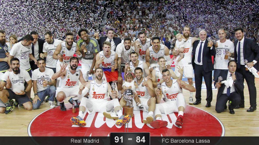 El Madrid y Llull renuevan su corona en la ACB tras ganarle la final al Barça