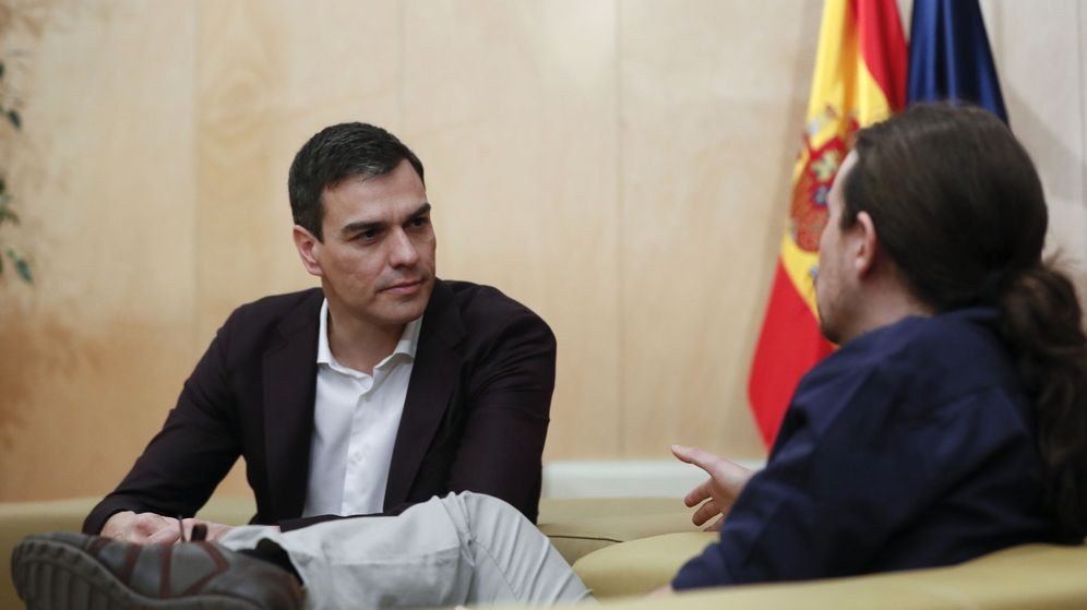 Foto: Los líderes del PSOE, Pedro Sánchez (i), y de Podemos, Pablo Iglesias. (EFE)
