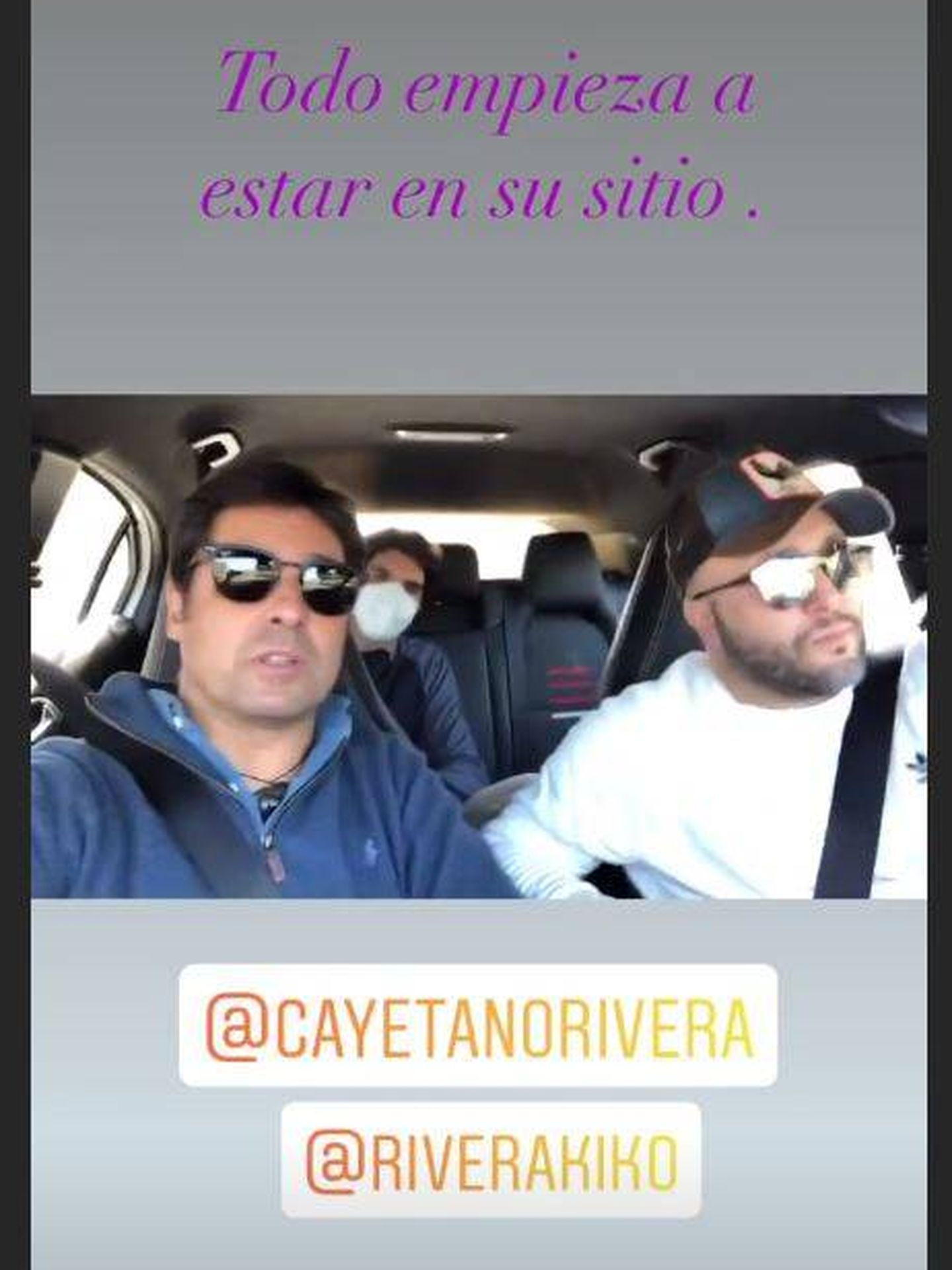 Stories de Instagram de Francisco Rivera. (Instagram @f.r.paquirri)