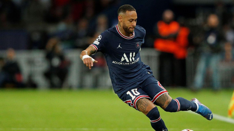 Neymar, durante el partido ante el City. (EFE)