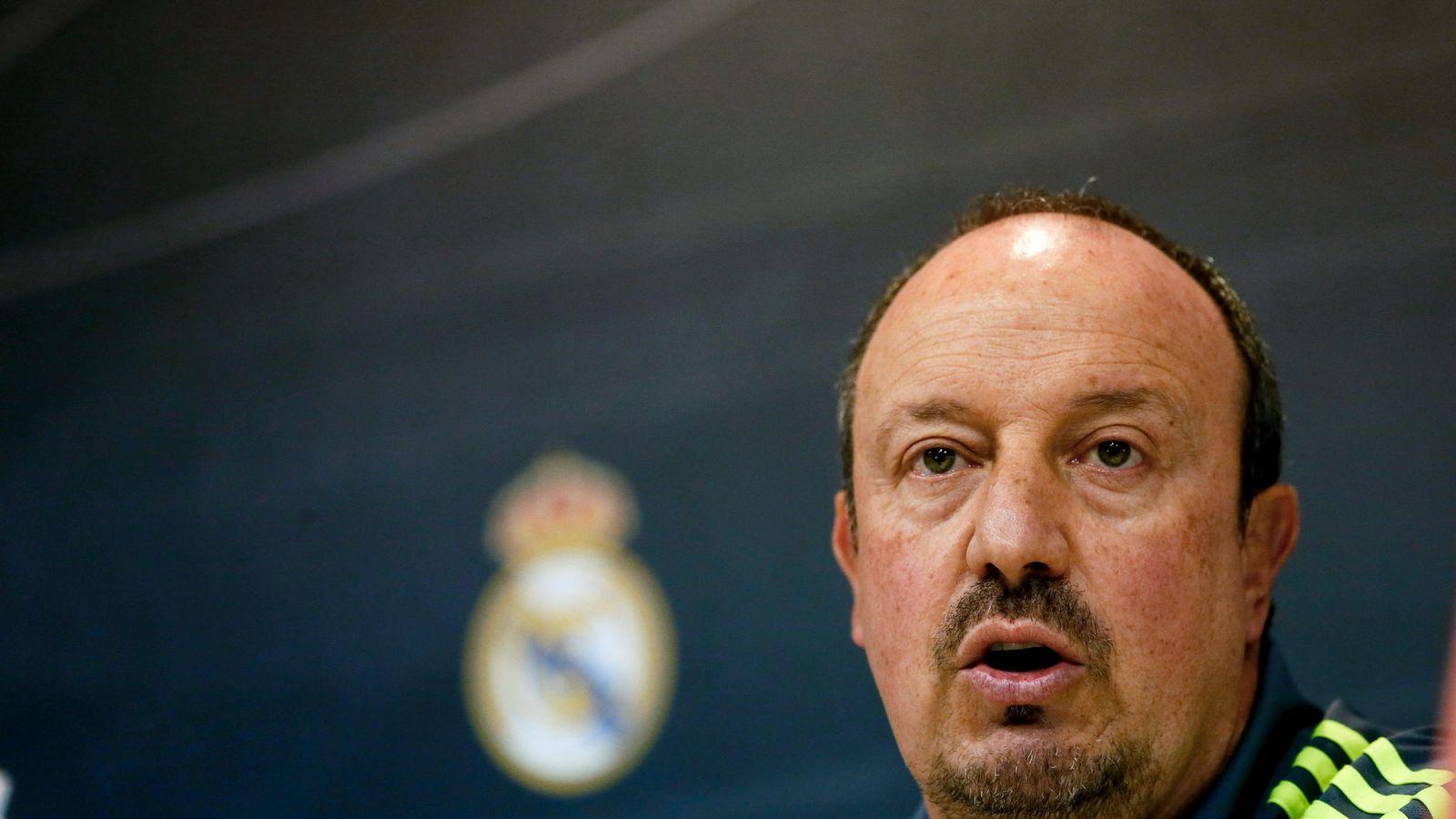 Foto: El técnico del Real Madrid,  Rafa Benítez, en rueda de prensa.