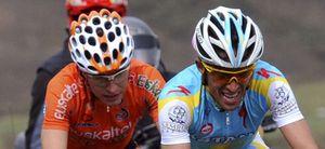 Foto: Contador obtiene un doloroso tercer puesto en la Flecha Valona